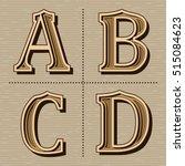 western alphabet design letters ... | Shutterstock .eps vector #515084623