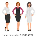young women in elegant office... | Shutterstock .eps vector #515085694