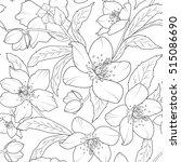 christmas winter rose hellebore ... | Shutterstock .eps vector #515086690