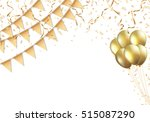 celebration design with golden... | Shutterstock .eps vector #515087290