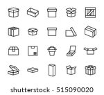 set of box icons in modern thin ... | Shutterstock .eps vector #515090020