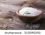 large white sea salt in a... | Shutterstock . vector #515090350