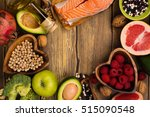 healthy food or paleo diet... | Shutterstock . vector #515090548
