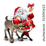 Cartoon Vector Santa Claus...