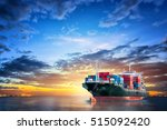 logistics and transportation of ... | Shutterstock . vector #515092420