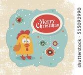 vector illustration of rooster  ... | Shutterstock .eps vector #515092990