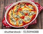 stuffed pasta shells with... | Shutterstock . vector #515094088