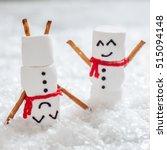 happy funny marshmallow snowman ...   Shutterstock . vector #515094148
