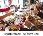 family together christmas... | Shutterstock . vector #515095228