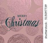 merry christmas. metallic...   Shutterstock .eps vector #515097739