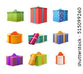 set of different colourful... | Shutterstock .eps vector #515099260