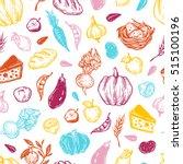 kitchen seamless pattern.... | Shutterstock .eps vector #515100196