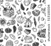 farming seamless pattern. farm  ... | Shutterstock .eps vector #515100334