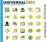 set of 25 universal editable... | Shutterstock .eps vector #515101318