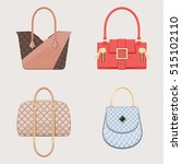 set of glamour handbags. female ... | Shutterstock .eps vector #515102110
