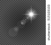 sun with lens flare lights... | Shutterstock .eps vector #515103103