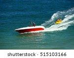 water amusement on banana boat. ... | Shutterstock . vector #515103166