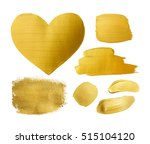 set of gold shining brush... | Shutterstock . vector #515104120