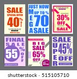 sale banner templates  posters  ... | Shutterstock .eps vector #515105710