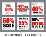 sale banner templates  posters  ... | Shutterstock .eps vector #515105743