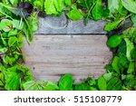 lettuce on wooden background   Shutterstock . vector #515108779