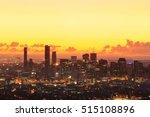 sunrise view of the brisbane... | Shutterstock . vector #515108896