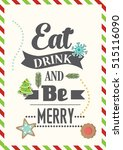christmas quote. food quote.... | Shutterstock .eps vector #515116090