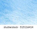 frozen glass. abstract winter... | Shutterstock . vector #515116414