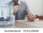 success businessman hand using...   Shutterstock . vector #515125600