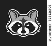 raccoons head logo for sport... | Shutterstock .eps vector #515126908