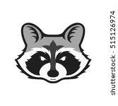 raccoons head logo for sport
