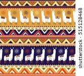 seamless pattern with lamas and ... | Shutterstock .eps vector #515128468