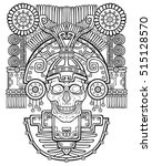 stylized skull. pagan god of... | Shutterstock .eps vector #515128570