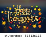 thanksgiving  happy  vector | Shutterstock .eps vector #515136118