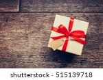 view above brown gift box and... | Shutterstock . vector #515139718