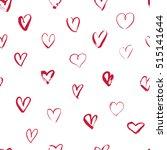 vector seamless hearts pattern  ... | Shutterstock .eps vector #515141644