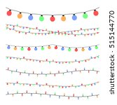 christmas holiday garland... | Shutterstock .eps vector #515144770