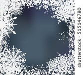 winter background  snowflakes   ... | Shutterstock . vector #515146780