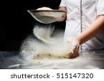 woman hands kneading dough. | Shutterstock . vector #515147320
