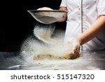 woman hands kneading dough. | Shutterstock . vector #515147320