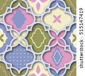 seamless pink   blue   green... | Shutterstock .eps vector #515147419