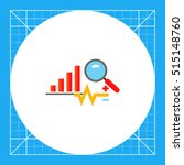 analysis concept icon with graph | Shutterstock .eps vector #515148760