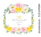 cute floral square vector... | Shutterstock .eps vector #515149084