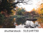 quiet lake and colorful woods... | Shutterstock . vector #515149750