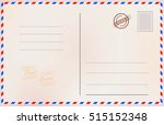 vintage postcard. vector design ...   Shutterstock .eps vector #515152348