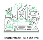 time is money   illustration of ... | Shutterstock .eps vector #515155498