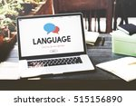 online language learning... | Shutterstock . vector #515156890