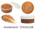 body scrub. jar of honey sugar... | Shutterstock . vector #515161138