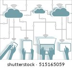 cloud computing paper cutout... | Shutterstock .eps vector #515165059