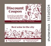 vector coupon template for... | Shutterstock .eps vector #515165224
